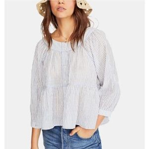 NEW Free People Sea to Shore Striped Top